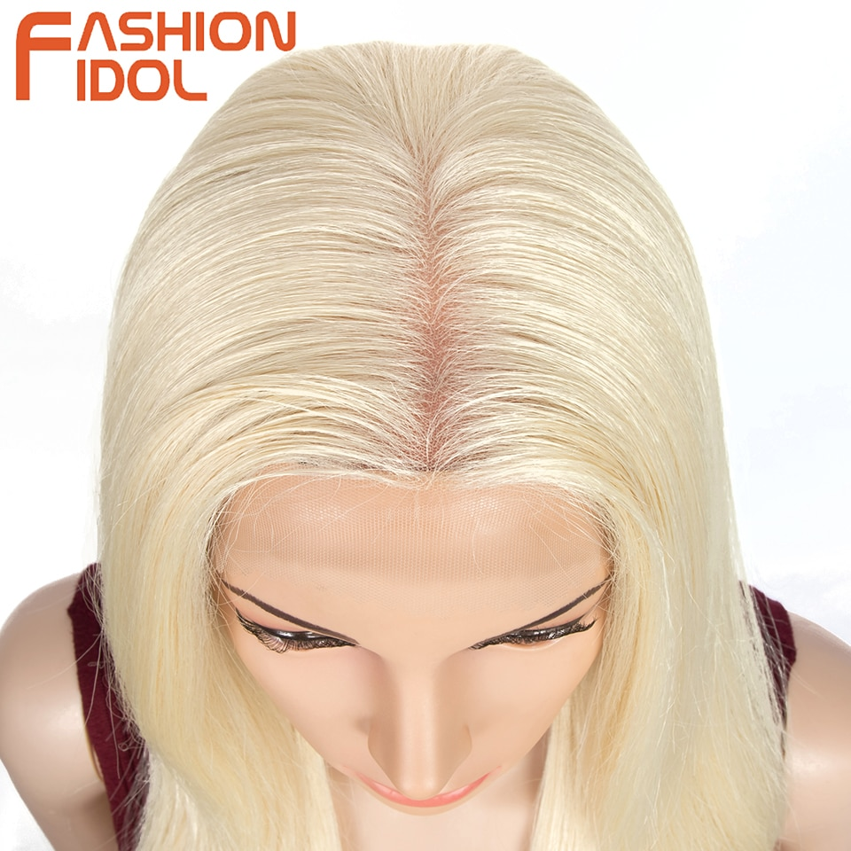 Blonde Lace Front Wig Synthetic Lace Anime 613 Wigs Long Straight Hair 28 Inches Soft Wig Cosplay For White Women FASHION IDOL enlarge