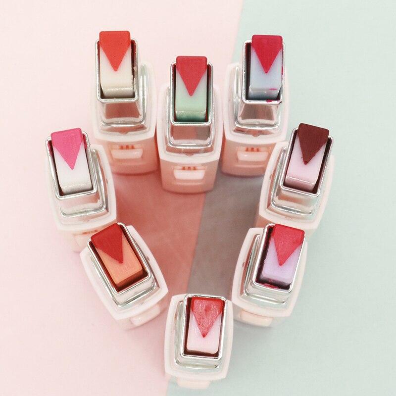 8 Colors Gradient Lipstick Korean Style Moisturizer Makeup Batom Fruit Tint Double Tone V Cutting Portable Fashion Lip Blam