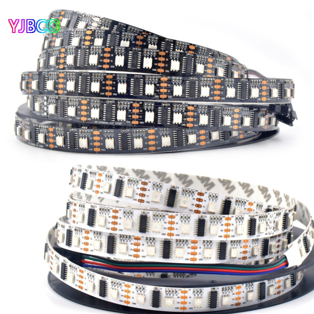 Dc5v led pixel strip luz 1m/5m lpd8806 5050 rgb 32/48/52/60leds/m (1 ic-2 chip) led pixel digital strip