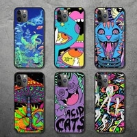 colourful psychedelic trippy phone case for iphone 12 11 mini pro xs max 8 7 6 6s plus x 5s se 2020 xr