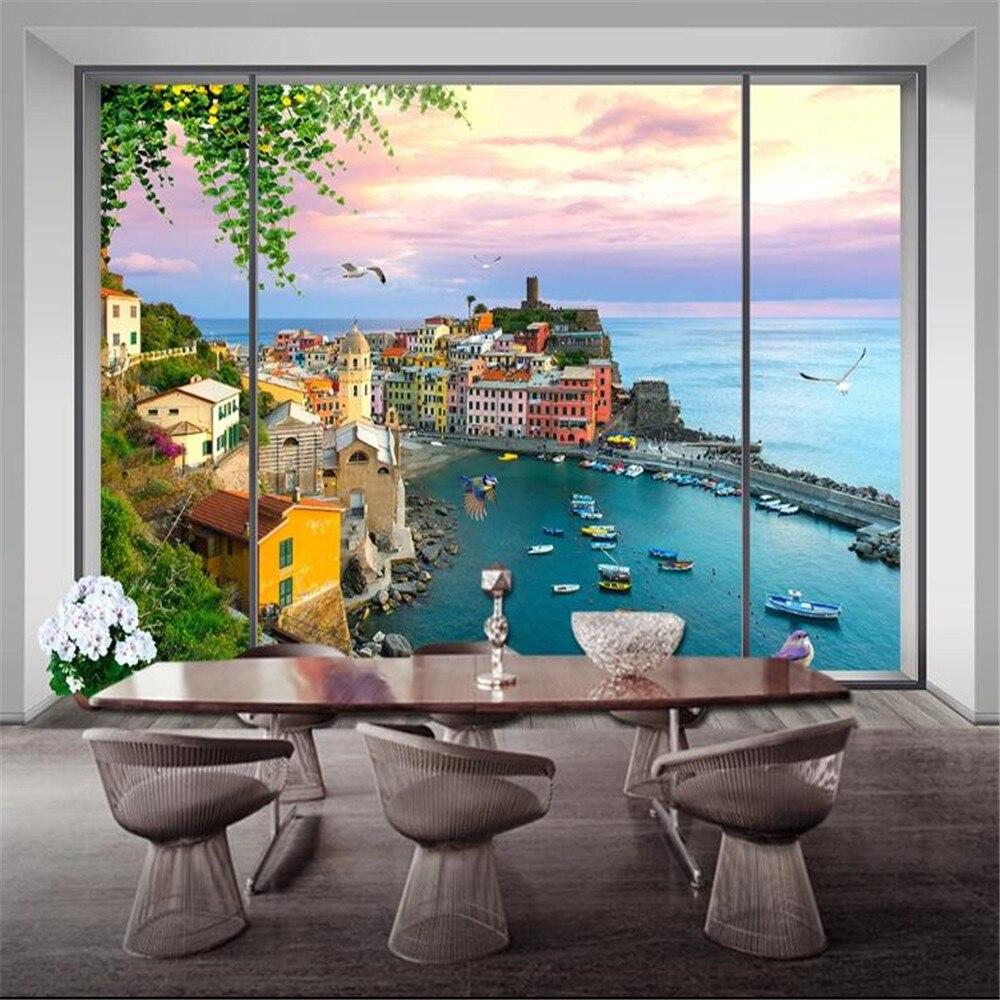 milofi manufacturers custom wallpaper mural 3d window scenery bedroom background