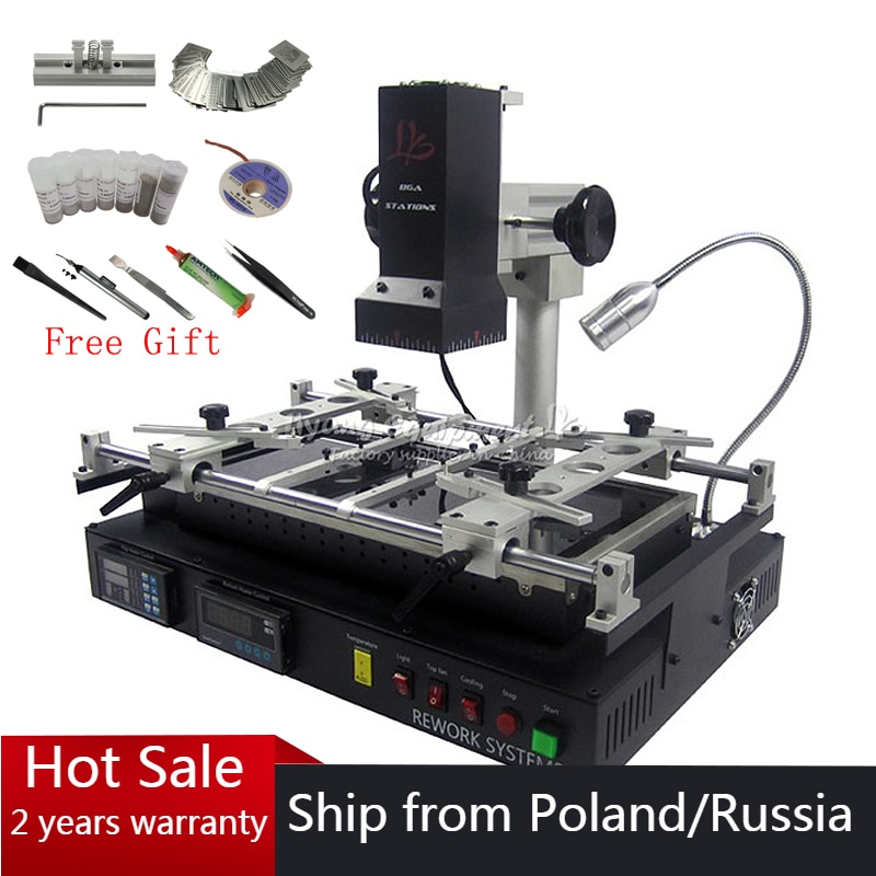 infrared Bga rework station IR8500 V.2 BGA machine IR Soldering Station Reballing Kit Motherboard Mobile Phone Chip Repairing