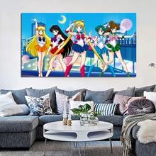 Anime Sailor Moon Charakter Set Bilder Wand Poster Moderne Stil Leinwand Druck Malerei Kunst Gang Wohnzimmer Einzigartige Dekoration