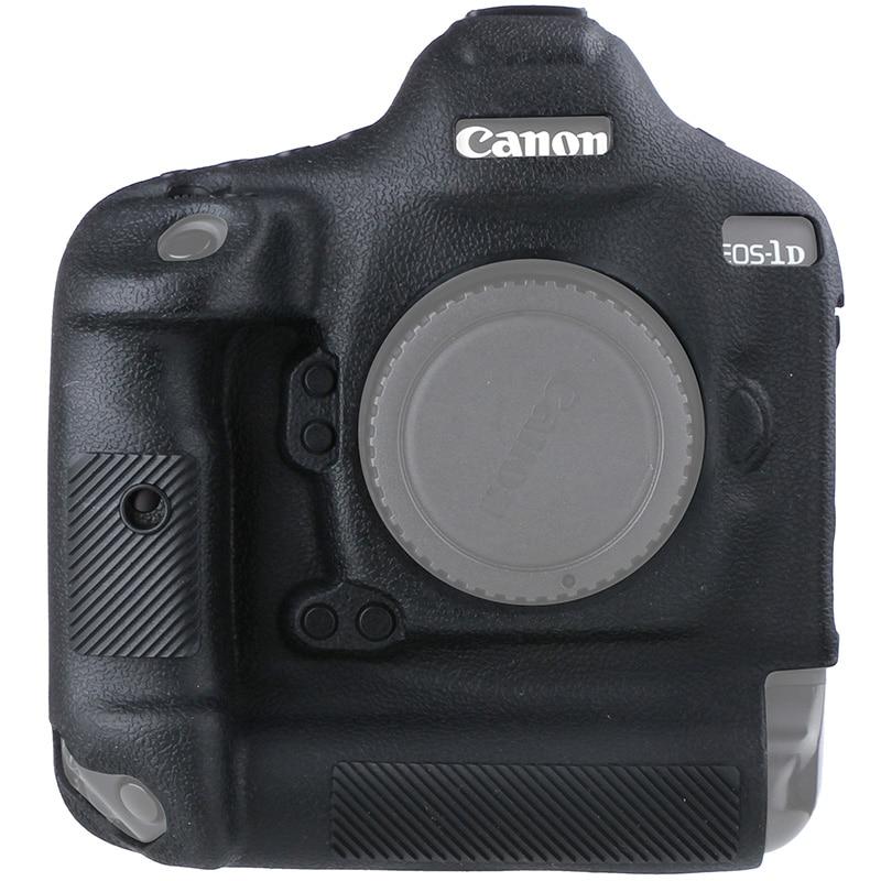 سيليكون المطاط كاميرا واقية الجسم حافظة جلدية لكانون 1DX / 1DX2 مارك II III 1DX3 III حقيبة كاميرا حامي غطاء