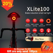 Lampe de poche vélo xlite100 vélo feu arrière démarrage automatique/arrêt frein détection IPX6 LED étanche charge vélo feu arrière