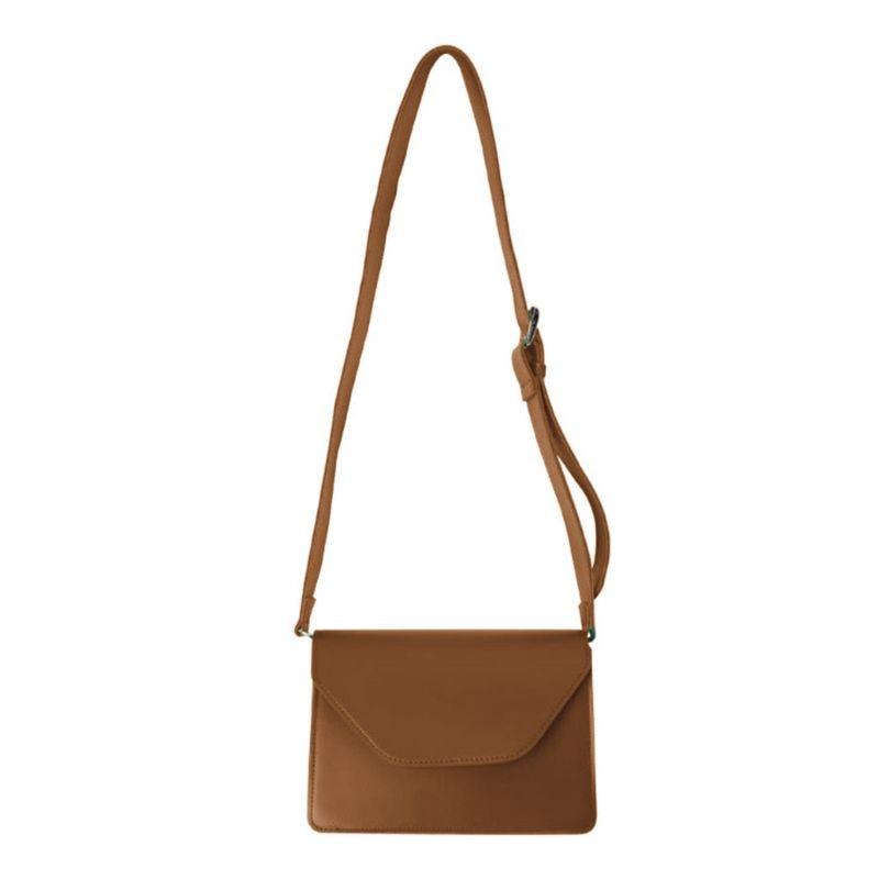 Fashion PU Leather Shoulder Bag Casual Messenger Satchel Brief Flap Tote Purse for Women Girls