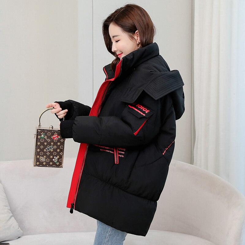 куртка зимняя женская Размера плюс, зимняя женская куртка, парка с капюшоном, длинная куртка с капюшоном, Женская хлопковая куртка-пуховик ж...
