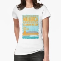 mallorca island in the sun the shirt for balearic lovers t shirt print top