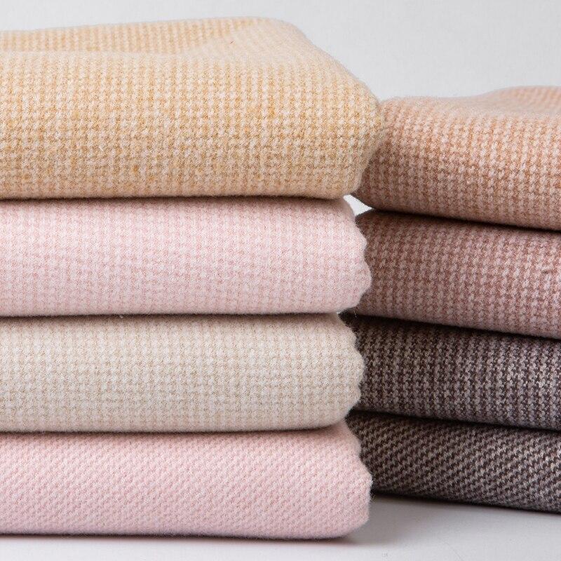 Wolle stoff herbst winter Plaid gemischt verdickt kaschmir nähen mantel woolen mantel kleidung hand DIY Tweed Stoff