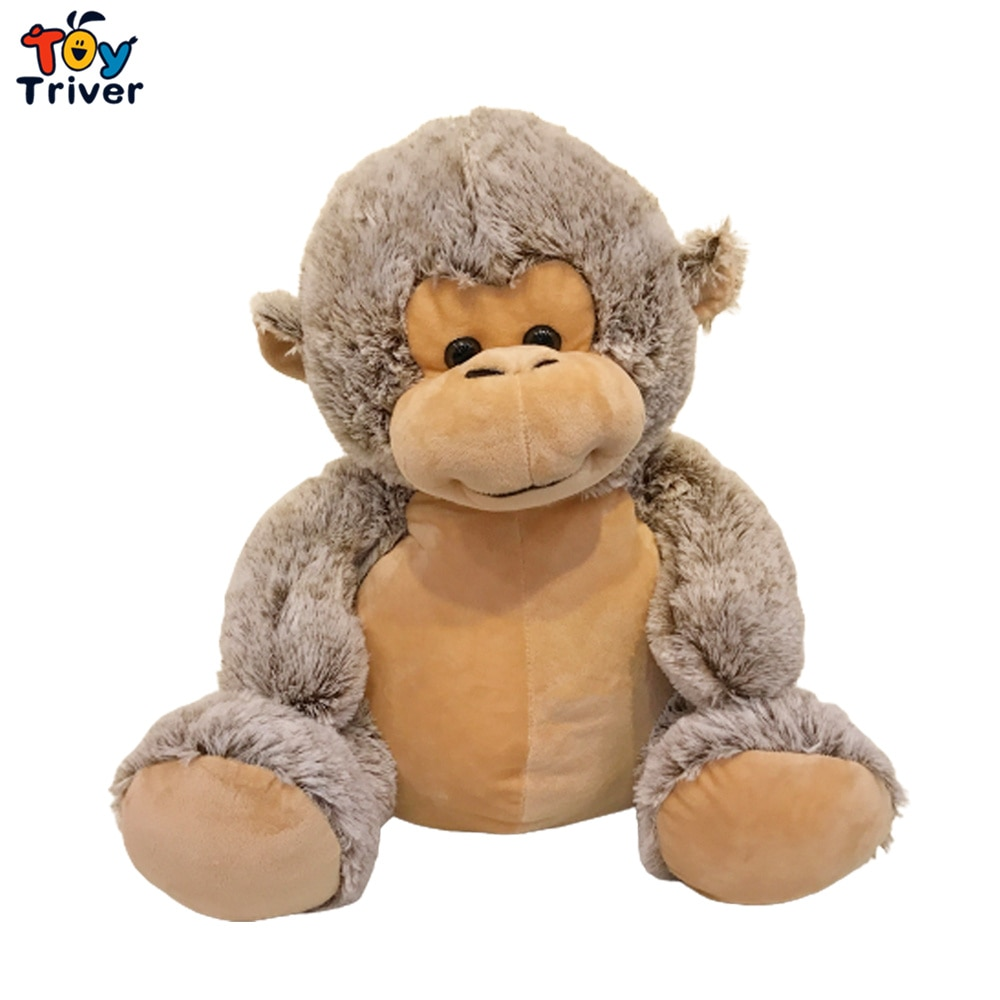 Kawaii قرد الشمبانزي Gibbon الغوريلا ألعاب من القطيفة الحيوانات المحشوة دمية أطفال الأطفال بنين بنات الكبار الهدايا وسادة غرفة ديكور