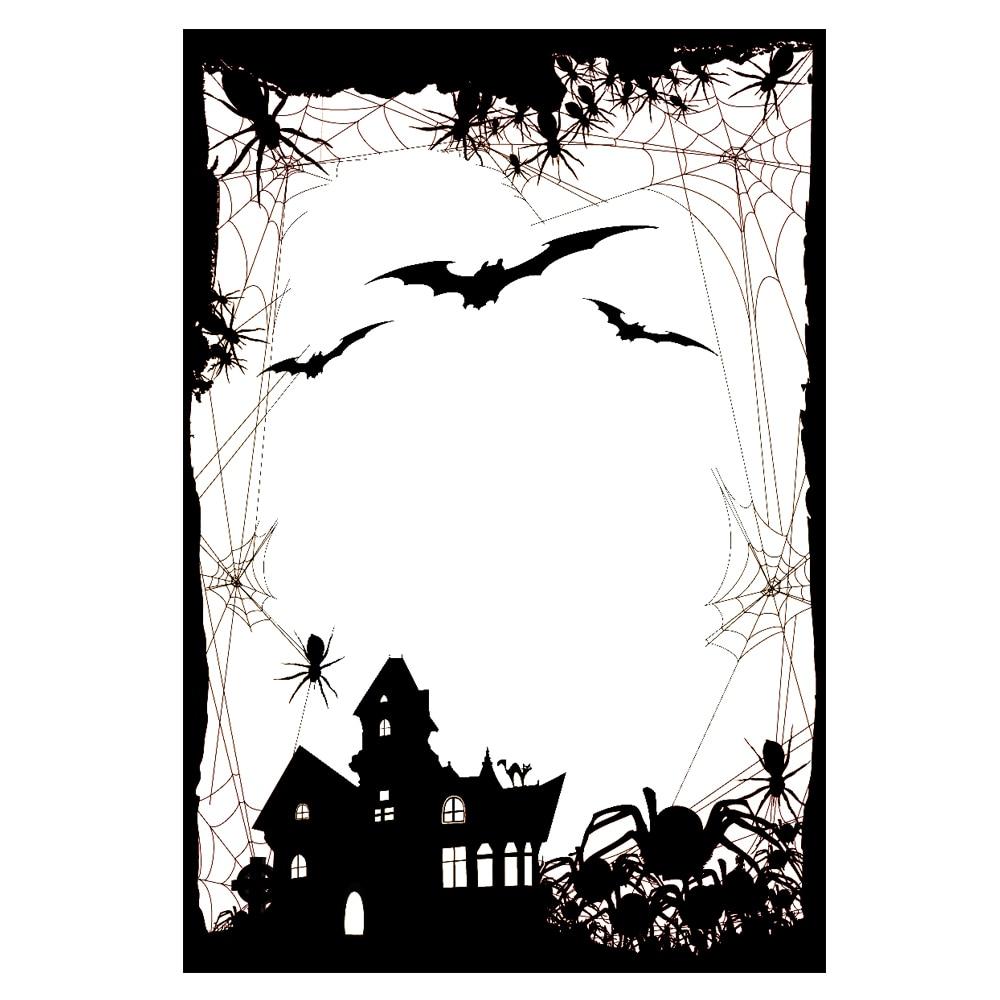 AZSG feliz Halloween Castillo Grave sellos transparentes/sellos para DIY Scrapbooking/fabricación de tarjetas/álbum decorativo de silicona sello artesanal