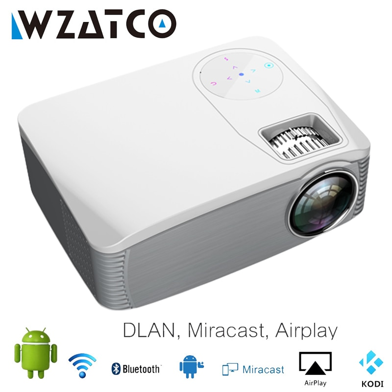 WZATCO K1 300 بوصة كامل HD 1920*1080P جهاز عرض (بروجكتور) ليد الروبوت WIFI الذكية فيديو Proyector المسرح المنزلي 3D سينما لاعب لعبة متعاطي المخدرات