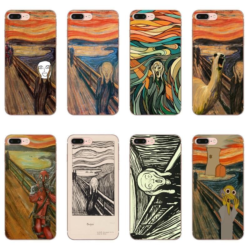 El grito de Edvard Munch por teléfono funda para Samsung Galaxy M30 A70 A60 A50 A40 A30 A10 A9s A8 A6s J8 J4 J6 primer Plus 2018