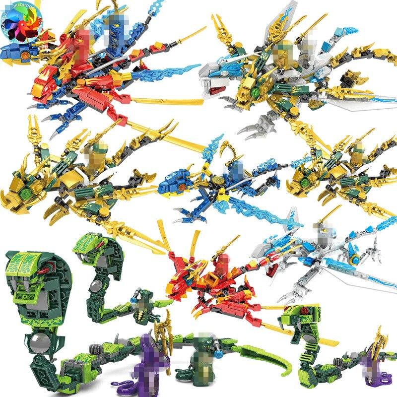 Ninja Dragon Knight basilisk Modell KAI JAY ZANE Fakten Bausteine kinder Spielzeug Ziegel geschenk für kinder jungen