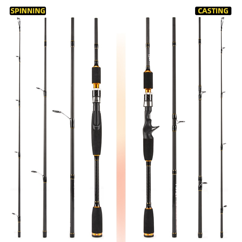 2.1M Fishing Rod Portable Four-Section Reinforced Thread Straight Handle Carbon Travel Rod Vara De Pesca Fishing Accessories enlarge