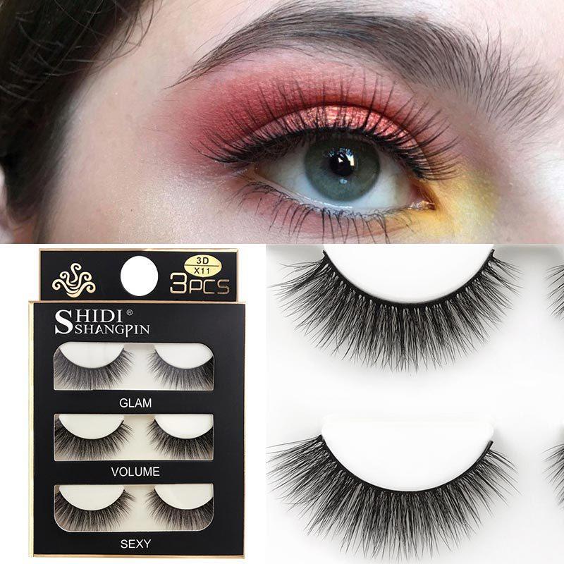Cílios de vison 3d cílios postiços naturais/grossos longos cílios de olho cruz natural longo cílios postiços maquiagem de olho beleza extensão