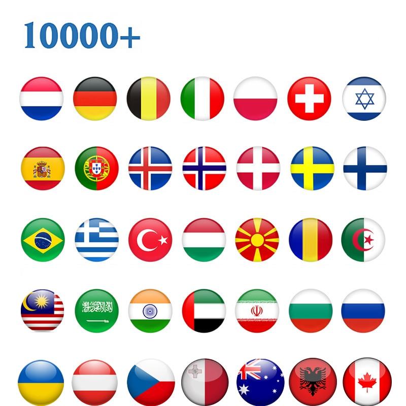 TV Global Europa Polonia España Israel EX-YU Bélgica checa Suecia Noruega MK Brasil Android soporte de caja IP TV M3U no incluye aplicación