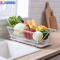 kunbei dish storage rack basket household drain tray kitchen dish drain rack kitchen accessories gadget storage rack