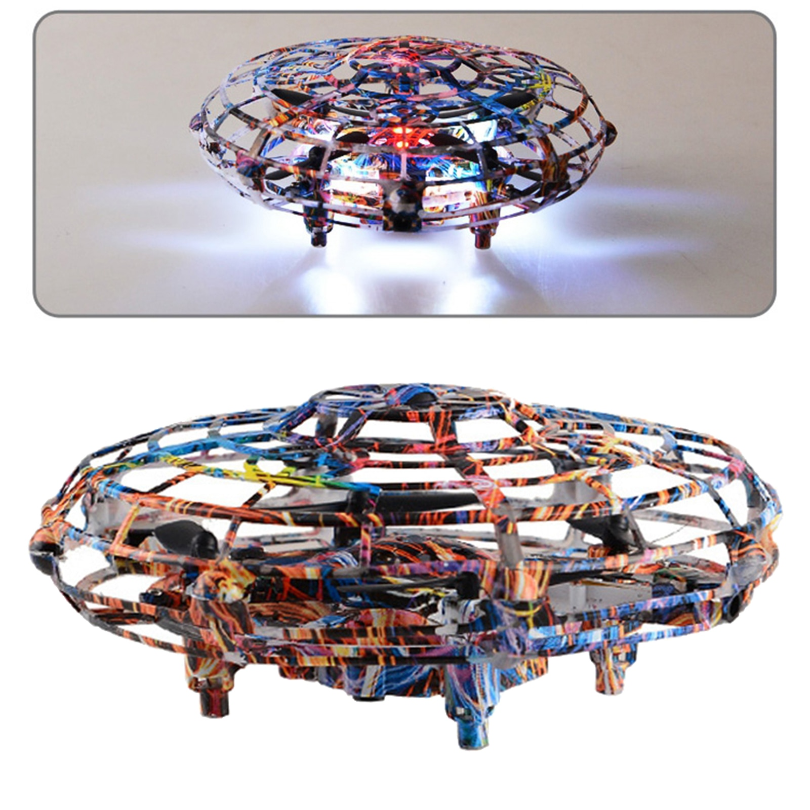 Kids Toy UFO Drone Small Flying Ball RC Drone Infrared Aircraft Toys Age 6+ enlarge