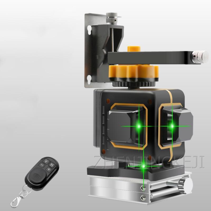 12 Lines Spirit Level Green Light Laser Spirit Level Floor Universal Spirit Level Waterproof Marker Multipurpose Laser Caster