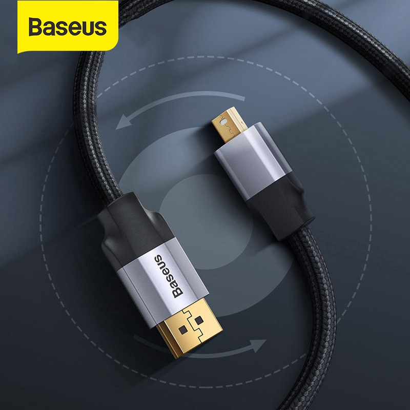 Кабель-адаптер Baseus Mini DP Male-4K HDMI Male-DP Male для ноутбука Projextor HD tv PS4