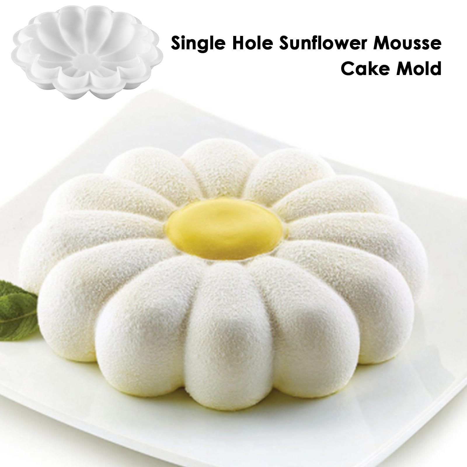 Лидер продаж, 3D Алмазная форма в форме цветка, силиконовая форма для шоколада, печенья, маффинов, инструмент для выпечки, губка, мусс, десерт, ...