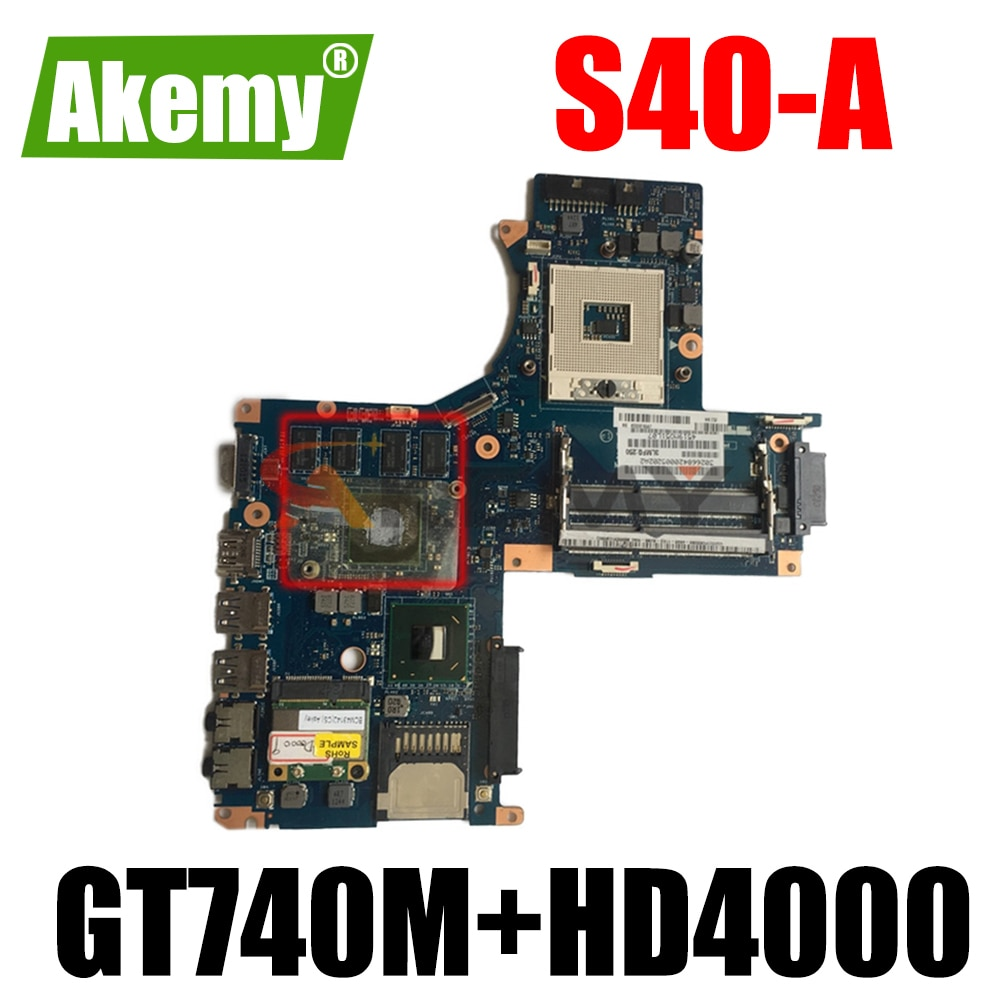 AKEMY MB K000141340 VFKAA LA-9863P توشيبا الأقمار الصناعية S40-A اللوحة GeForce GT740M + HD4000
