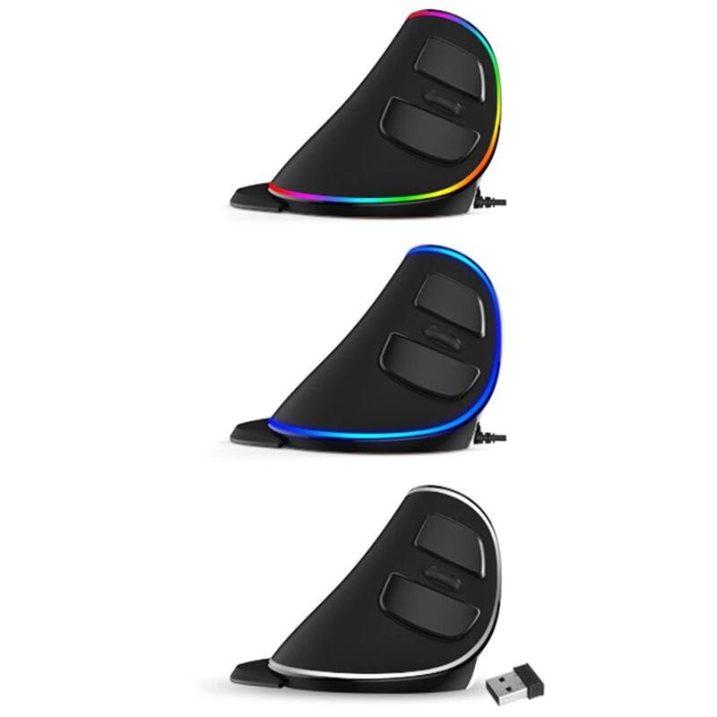 Souris de jeu verticale ergonomique M618 PLUS 6 boutons 4000 DPI souris droite rvb filaire/sans fil pour ordinateur portable PC