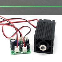 33mm*50mm Adjusted 532nm Green 80mw-100mW Line Positioning Laser Diode Module Focusable 12V Driver TTL