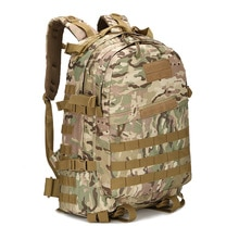 Mochila militar táctica, mochila Molle de asalto del ejército, para hombre, exterior, Camping, senderismo, senderismo, caza, viaje, bolsa de camuflaje