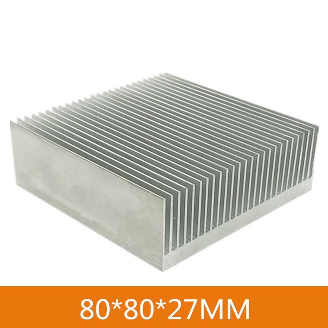 1x refrigerador del radiador electrónico Fin disipador de calor de aluminio sistema de refrigeración de agua de la computadora IC Chip LED 100*100*18mm 80*80*27mm disipador de calor