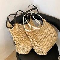 women bag women straw bags high capacity beach straw rattan shoulder bags 2021 summer luxury brand retro travel tote handbags
