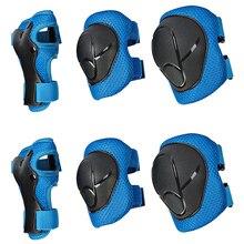 6 pièces/ensemble enfants équipement de protection genouillères coudières poignet garde ensemble pour enfants complet de protection roller Skateboard accessoire