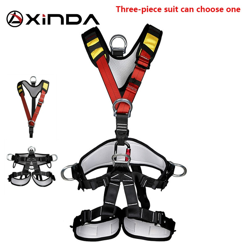 XINDA Professional Rock Climbing Harnesses Full Body Safety Belt Anti Fall Removable Gear Altitude P