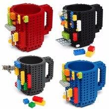 Lego tasse de voyage créative 350ml bricolage   Tasse de voyage, tasse de mélange de boissons, ensemble de vaisselle pour enfants, couverts pour adultes, tasse de café, tasse Lego