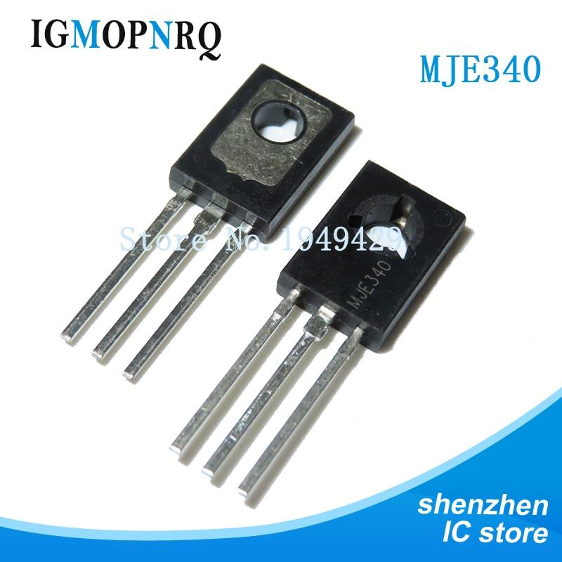 Envío gratis 10 unids/lote MJE340-126 KSE340 TO126 PNP 300V 0.5A Transistor nuevo original