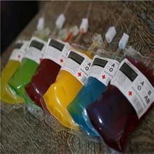 1 Uds. Bolsa de bebida energética reutilizable de PVC de grado alimenticio bolsa de Halloween utilería vampiro gran oferta