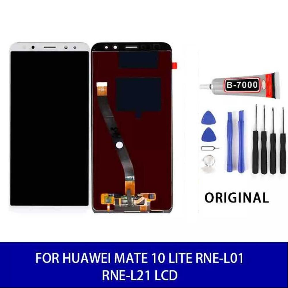 Original para Huawei Mate 10 Lite/ NOVA 2i RNE-L01 RNE-L21 Lcd pantalla táctil Panel digitalizador montaje pantalla piezas