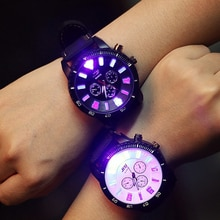 Couple watch Leecnuo LED Flash Luminous Watch Personality Trends Students Lovers Jellies Couple Watc