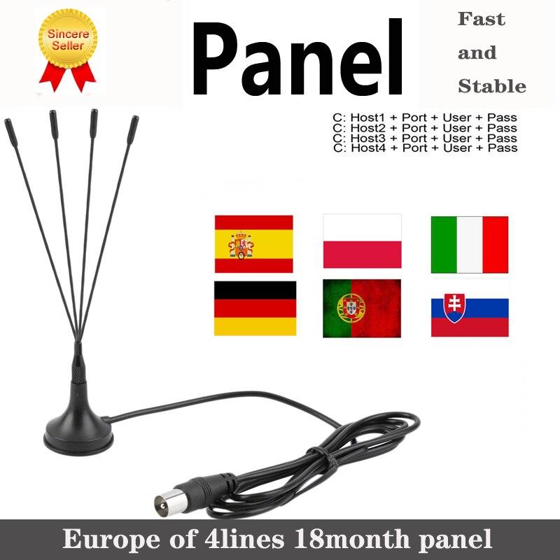 Estable Full HD Cam 4 líneas panel 1 año para Europa España portugal ect