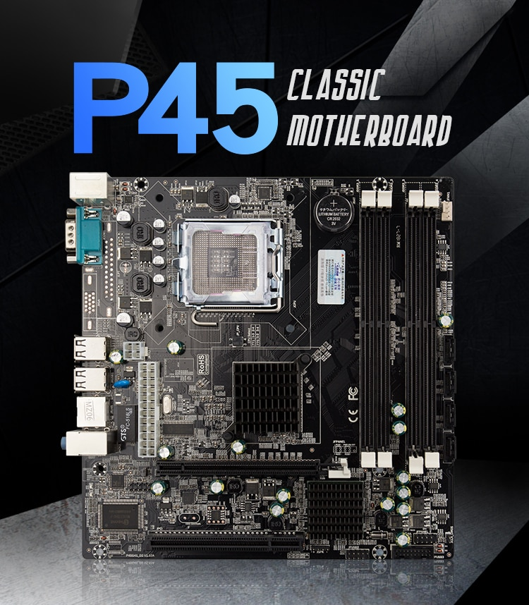 Workstation P45 Motherboard Intel Socket LGA775 771 support DDR2 up to 8GB x9P5