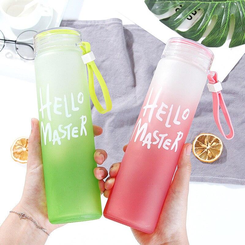 Botellas De Agua Kawaii De vidrio, Botellas De plástico Para té y Agua, a la moda, creativas, con logotipo personalizado, ideal Para regalo, EC50SH