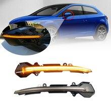 For Seat Leon III Mk3 5F 13-18 Ibiza KJ Mk5 V Arona 17-18 Car LED Mirror Indicator Dynamic Turn Signal Light