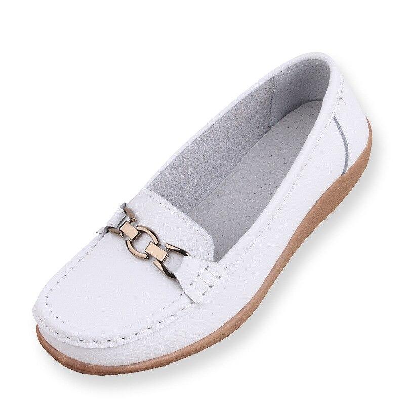 النساء الباليه الشقق أحذية جلد طبيعي الانزلاق على السيدات الضحلة الأخفاف حذاء كاجوال الإناث الصيف أحذية لوفر النساء