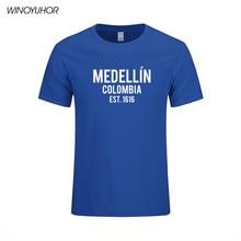 Hot Koop Fashion Zomer Grappige Print T-shirts Narcos Medellin Est 1616 Pablo Escobar Movie Tee Shirt Camisetas Masculina