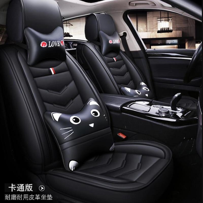(Delantero + trasero) funda de asiento de coche de cuero especial para Ford mondeo Focus Fiesta Edge Explorer Taurus S-MAX accesorios de estilo automático
