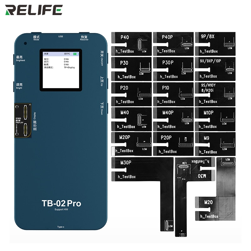 RELIFE TB-02 Pro HW Screen Board Tester Display Touch Repair Test Box for HW P10/P20/P20P/P30/P40/Mate9/Mate10 Pro/Mate20/Mate30