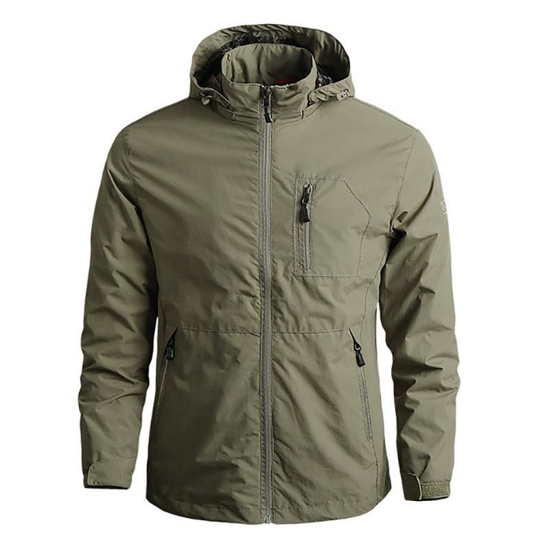 Куртка мужская с капюшоном, тактическая Ветровка-бомбер в стиле хип-хоп, Бомбер, софтшелл, уличная одежда, ветровка, осень-весна