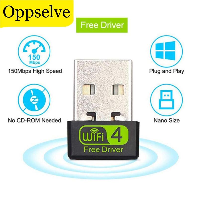 Oppselve USB Wi-Fi адаптер USB Ethernet Wi-Fi модем 150 Мбит/с 2,4 г USB Wi-Fi адаптер ПК антенна Wi-Fi приемник Беспроводной сетевая карта