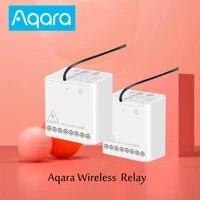 Xiaomi Aqara     controleur de relais sans fil a 2 canaux  Module de commande bidirectionnel  commutateur de relais  fonctionne pour Apple Homekit Mi Home